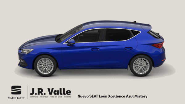seat leon xcellence azul lateral